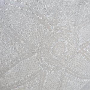 echt-vintage Aluminium Tablett - 'Waddah'-4075