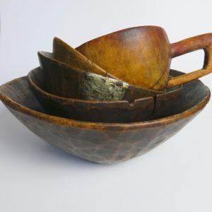 Original vintage Holzschale Berber-4144