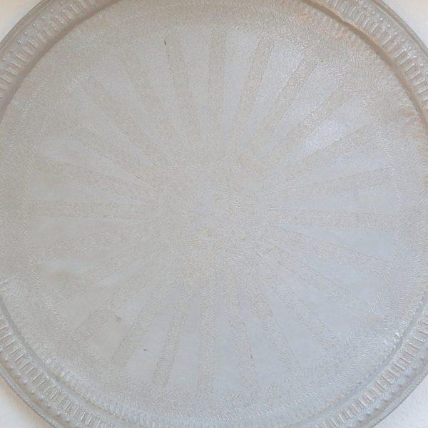 echt-vintage Aluminium Tablett - 'Shabana'-0