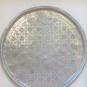 echt-vintage Aluminium Tablett - 'Shihab'-0
