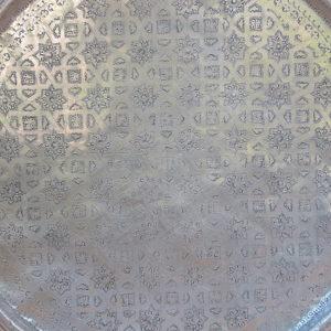 echt-vintage Aluminium Tablett - 'Shihab'-4398