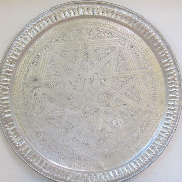 echt-vintage Aluminium Tablett - 'Talawat'-0