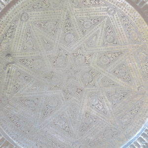 echt-vintage Aluminium Tablett - 'Talawat'-4391