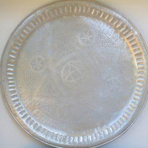 echt-vintage Aluminium Tablett - 'Tirra'-4416