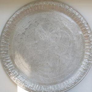 echt-vintage Aluminium Tablett - 'Zaafar'-0