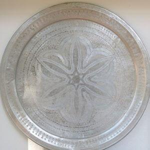 echt-vintage Aluminium Tablett - 'Zahira-0