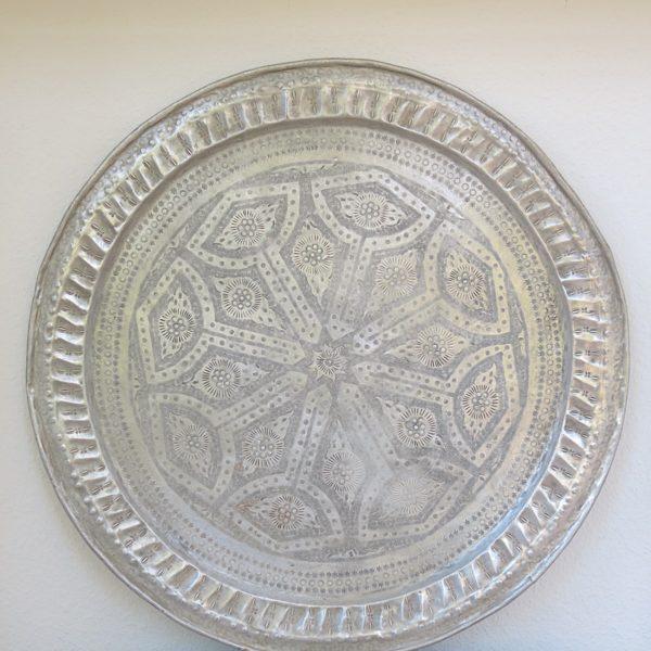 echt-vintage Aluminium Tablett - 'Zarif'-0