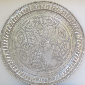 echt-vintage Aluminium Tablett - 'Zarif'-4376