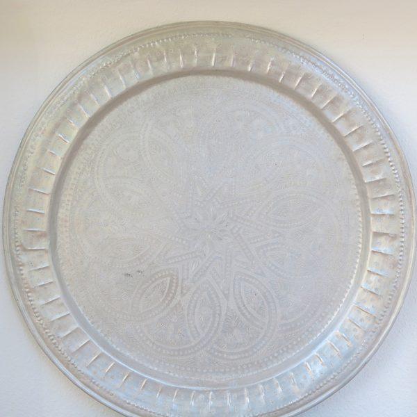 echt-vintage Aluminium Tablett - 'Zinah'-0