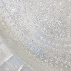 echt-vintage Aluminium Tablett - 'Zinah'-4402