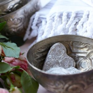 Hamamschale vintage - Silber mit dekorativem Ornament-1612