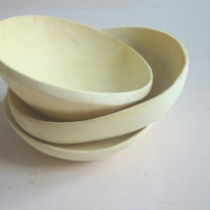 handgefertigte Holzschale aus Zitronenholz-0